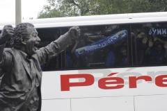 Бой между фенове на Спортинг Хихон и полиция